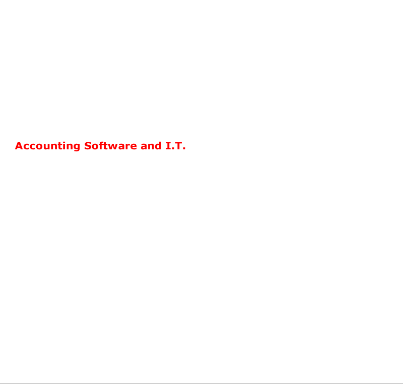 Accounting Software and I.T.